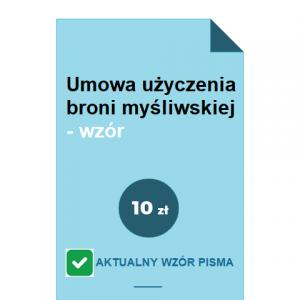umowa-uzyczenia-broni-mysliwskiej-wzor-doc-pdf