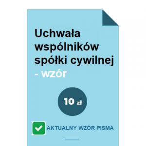 uchwala-wspolnikow-spolki-cywilnej-wzor-pdf-doc