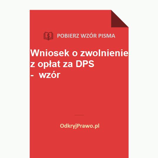 Wniosek-o-zwolnienie-z-opłat-za-DPS-wzór
